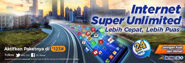 Cara Daftar XL Unlimited Internet Bulanan