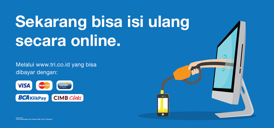 Cara Isi Ulang Kartu 3 Three di Website Tri
