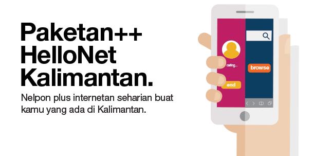 Daftar Paketan++ 3 Tri HelloNet Kalimantan