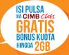 Bonus Kuota Bolt! Via Cimb Click