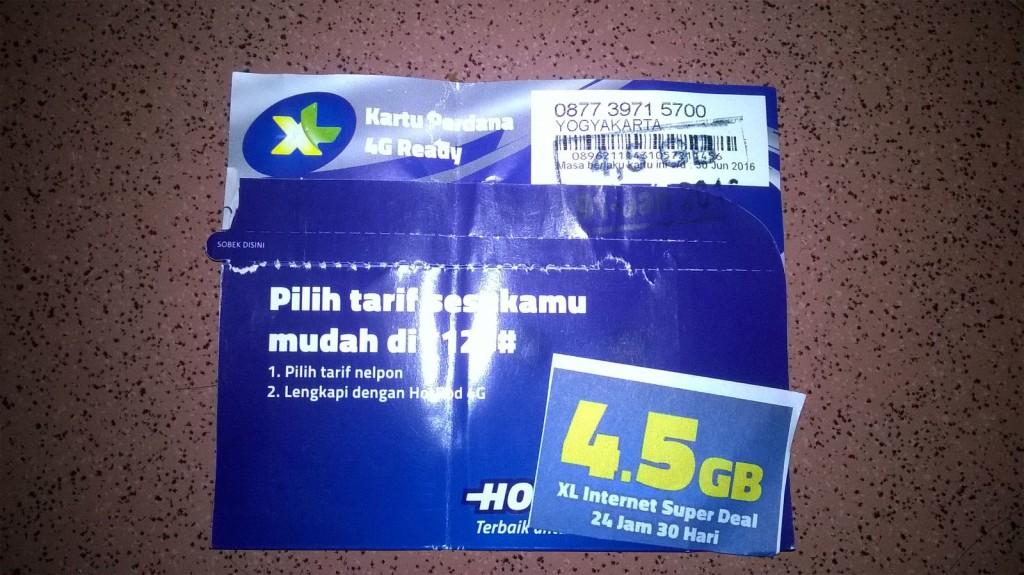 Kartu Perdana XL Kuota Internet 4,5GB
