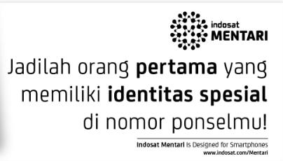 Pesan No Cantik Indosat