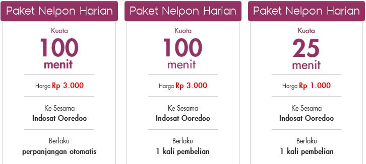 Paket Nelpon Harian Indosat